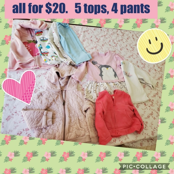 @$20@ Girl around 2 years tops, and pants